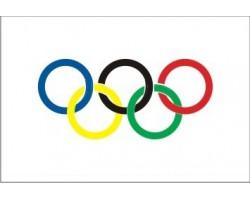 vlajka OLYMPIJSKÁ