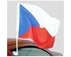 Carflag s vlajkou ČR